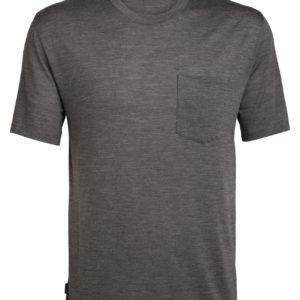 ICEBREAKER T-shirt manches courtes, col rond et poche Drayden Nature Dye Homme